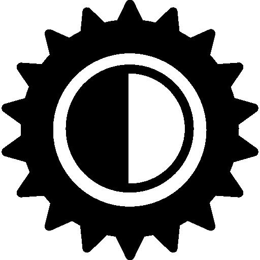 Настройки контрастности  бесплатно иконка