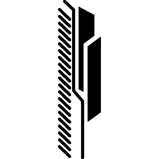 circuit vertical imprimé électronique  Icône gratuit