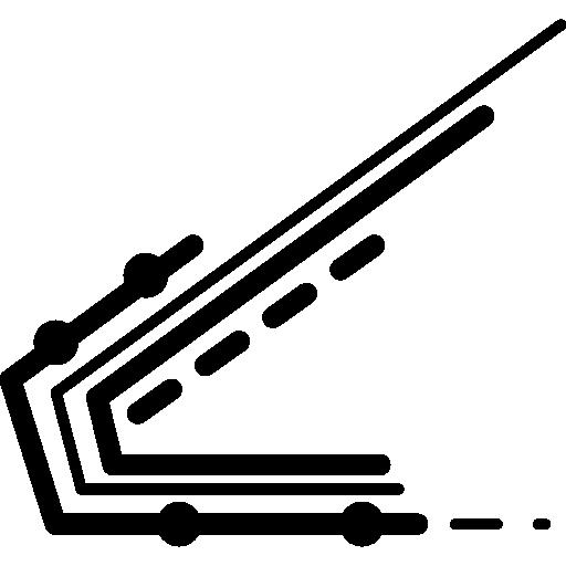 lignes de circuits imprimés électroniques  Icône gratuit