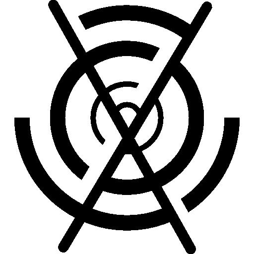 circuit circulaire électronique avec une croix  Icône gratuit