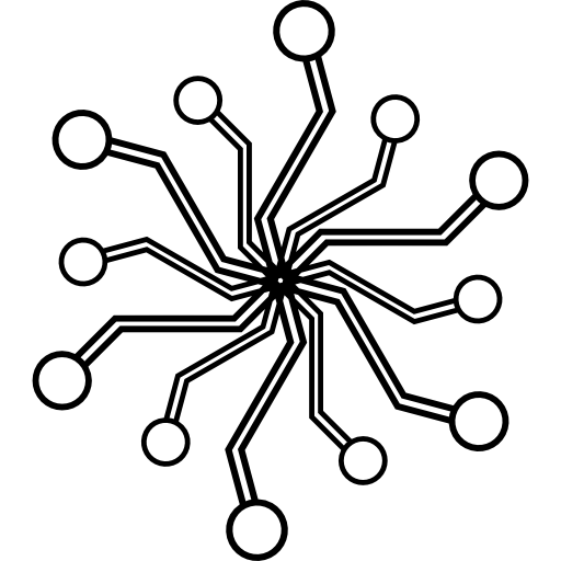 circuit hexagonal radial électronique  Icône gratuit