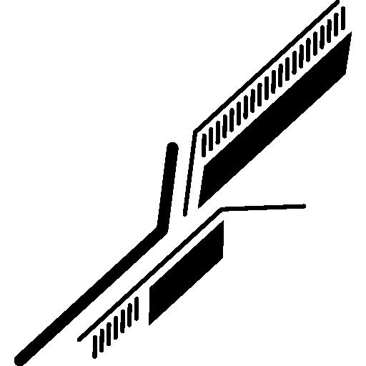 lignes diagonales du circuit imprimé électronique  Icône gratuit
