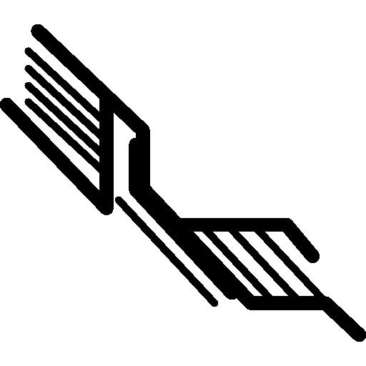circuit électronique en lignes diagonales  Icône gratuit
