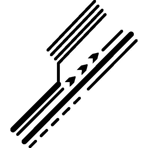 détail du circuit imprimé électronique des lignes diagonales  Icône gratuit