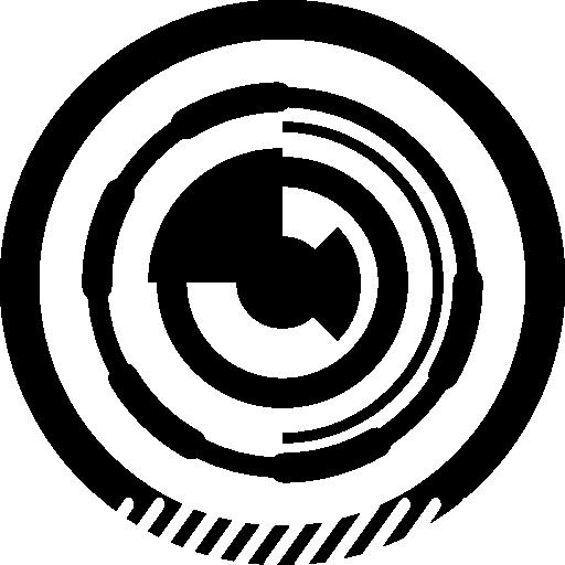 cercle de circuit électronique imprimé  Icône gratuit