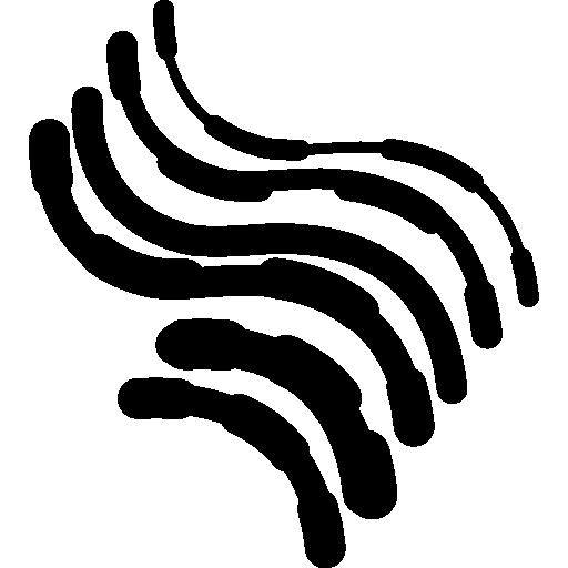 circuit imprimé électronique courbes irrégulières  Icône gratuit