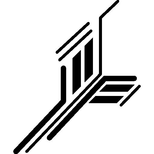 circuit électronique de lignes droites imprimées  Icône gratuit
