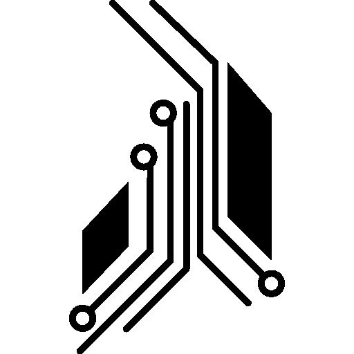 détail du circuit imprimé électronique  Icône gratuit
