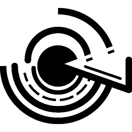 impression de circuits électroniques circulaires  Icône gratuit