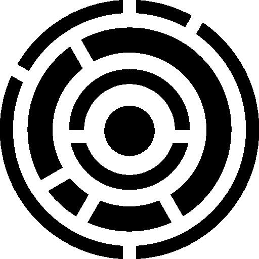 circuit électronique de lignes circulaires  Icône gratuit