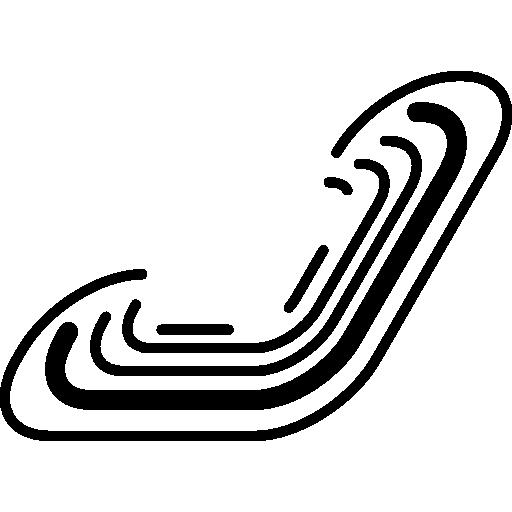 courbes de circuits électroniques  Icône gratuit