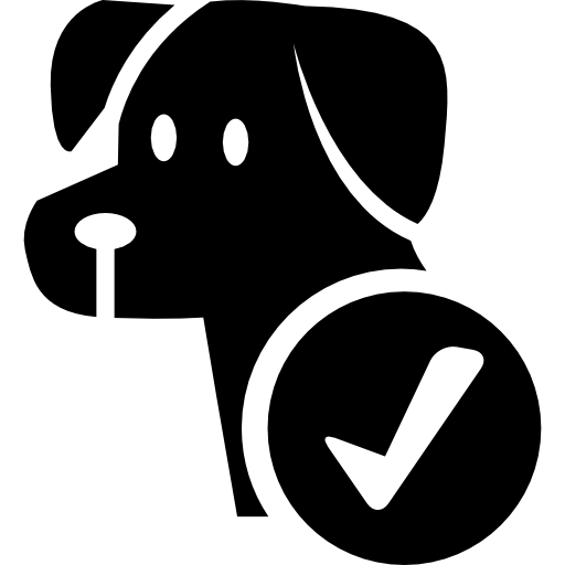 Сигнал отеля разрешен для собак  бесплатно иконка