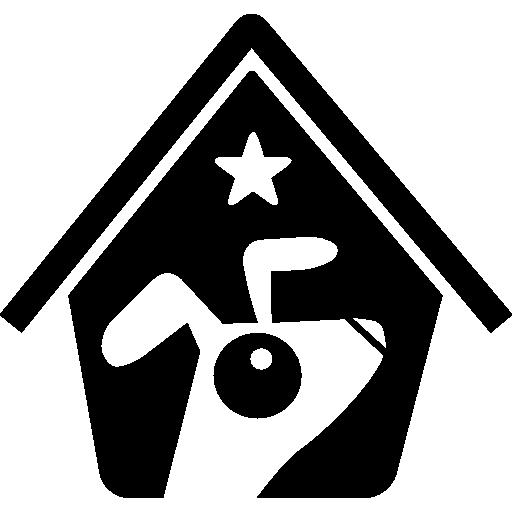 Гостиница с домашними животными  бесплатно иконка