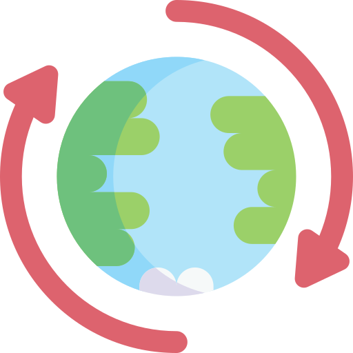 rotation de la terre  Icône gratuit