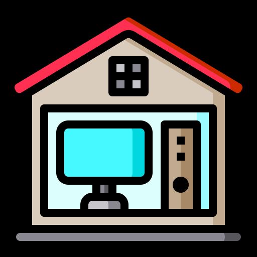 bureau à domicile  Icône gratuit