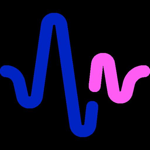 Audio waves  free icon