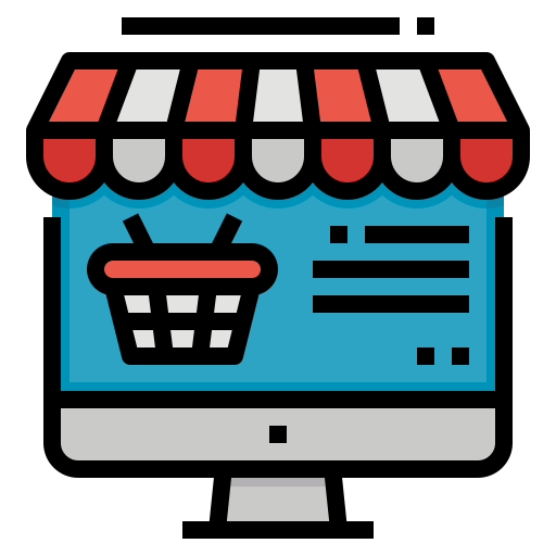 Онлайн магазин  бесплатно иконка