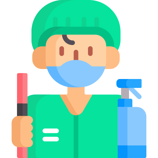 Cleaning staff  free icon