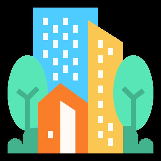 도시 건물  무료 아이콘