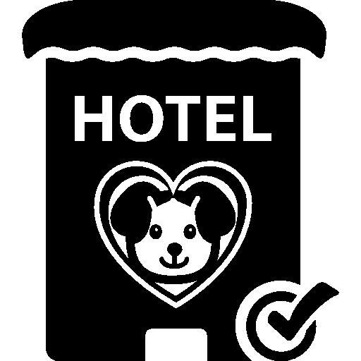 Знак отеля домашних животных  бесплатно иконка