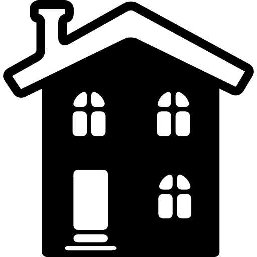 Фасад дома сельской гостиницы  бесплатно иконка