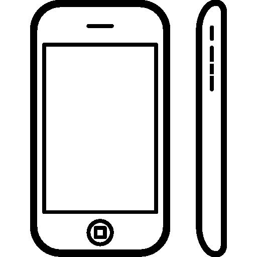 iphone 3g frontal- und seitenansicht  kostenlos Icon