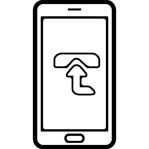 handy mit einem schild mit aufwärtspfeil auf dem bildschirm  kostenlos Icon