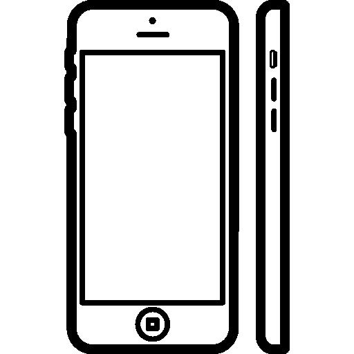 iphone 5c vue de face et de côté  Icône gratuit