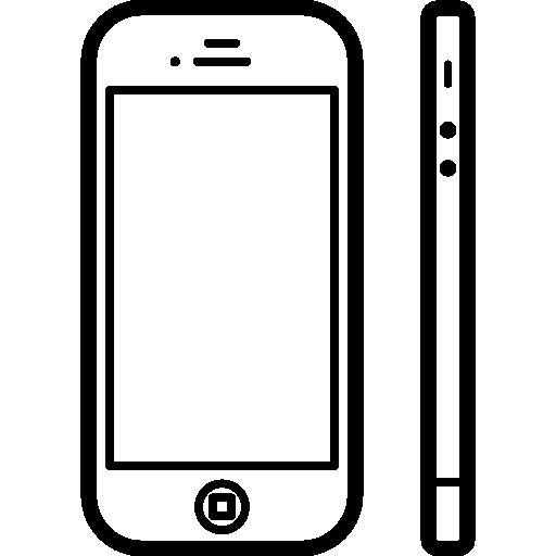 apple iphone 4 von vorne und von der seite  kostenlos Icon