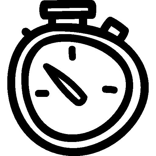 horloge de symbole d'outil dessiné main forme irrégulière  Icône gratuit