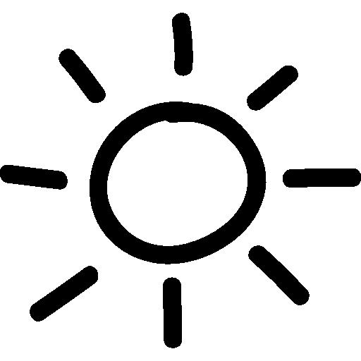 sonnenhand gezeichnetes symbol  kostenlos Icon