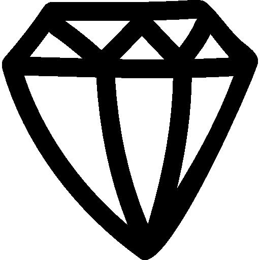 diamant hand gezeichnete umriss seitenansicht  kostenlos Icon
