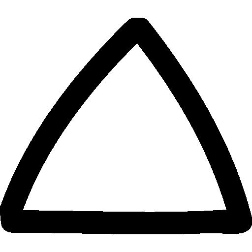 aufwärtspfeil dreieck hand gezeichnete kontur  kostenlos Icon