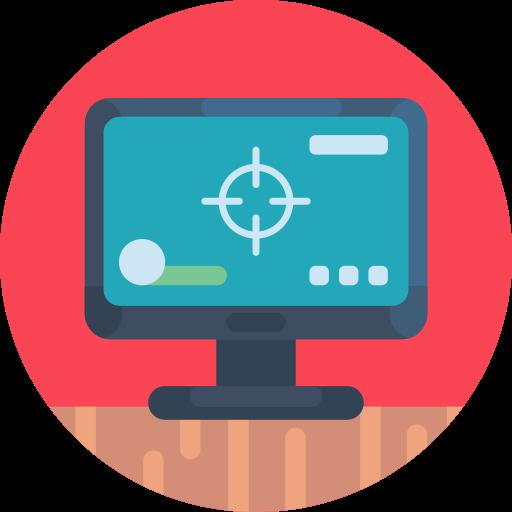 monitor de computador  grátis ícone