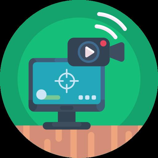 câmera de vídeo  grátis ícone