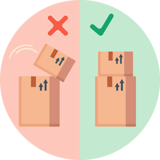 Stack of boxes  free icon