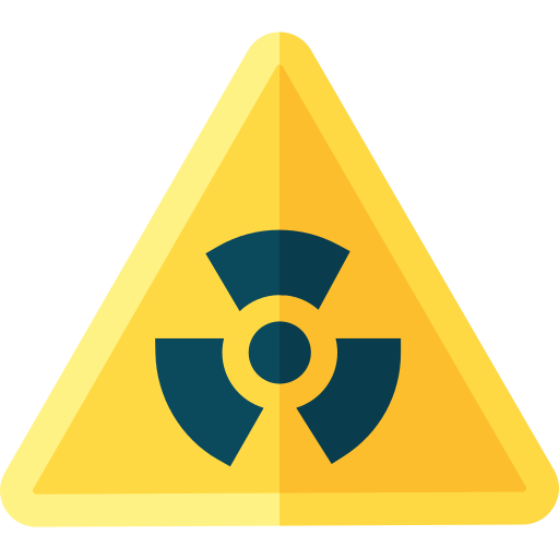 Nuclear danger  free icon