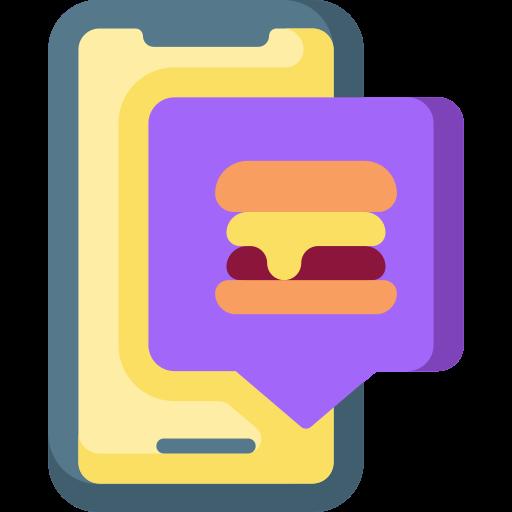Заказать еду  бесплатно иконка