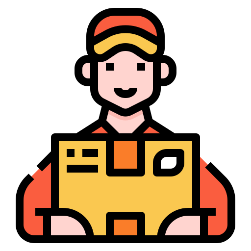 Delivery man  free icon