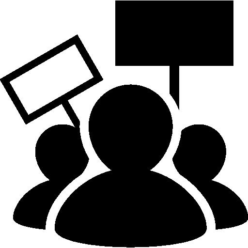 Protest  free icon