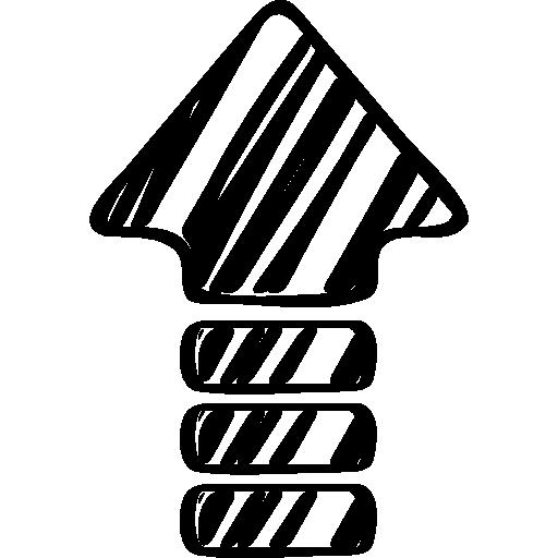 croquis de la flèche vers le haut  Icône gratuit
