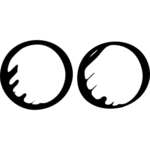 Flickr sketched logo outline  free icon