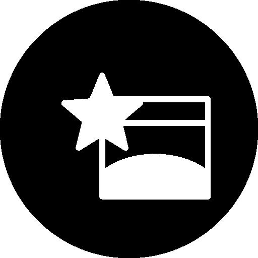 Любимый символ браузера в круге  бесплатно иконка