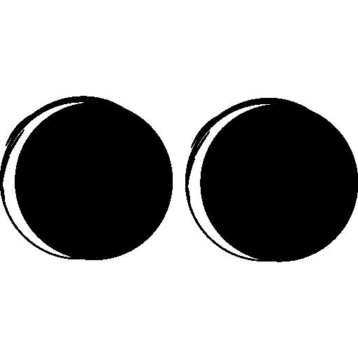 Flickr logo sketch  free icon