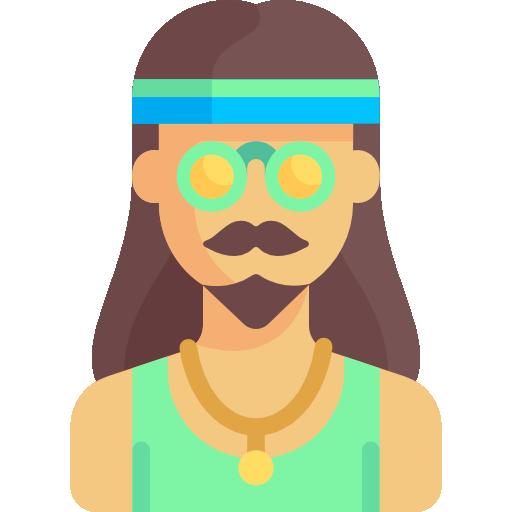 Hippie  free icon