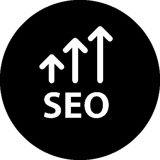 símbolo de flechas arriba seo en un círculo  icono gratis