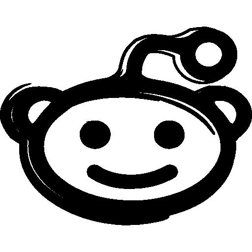 variante de boceto del logotipo de la mascota de reddit  icono gratis