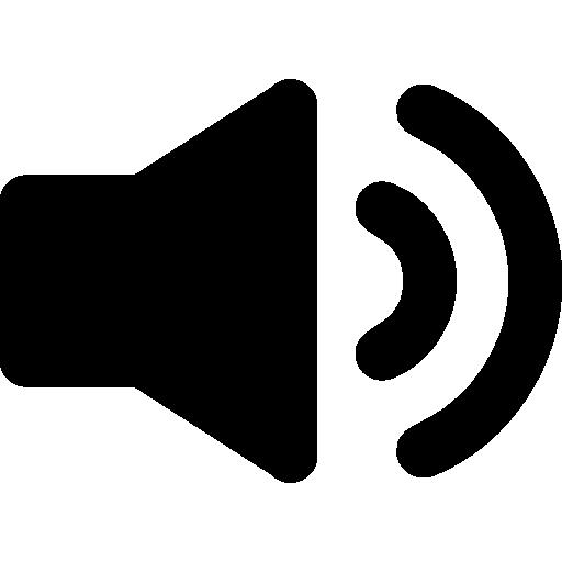 symbole audio de l'interface du haut-parleur  Icône gratuit