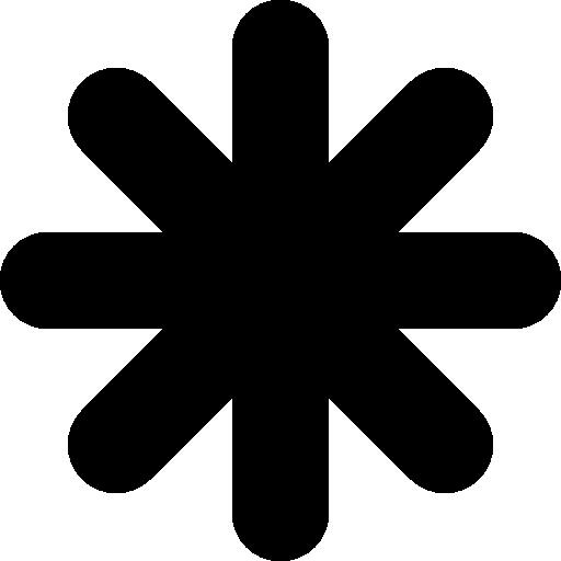 forme d'étoile noire astérisque  Icône gratuit