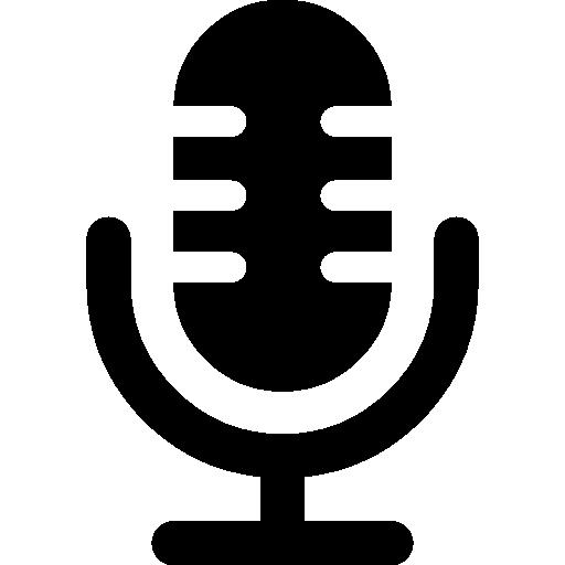 symbole d'interface vocale du microphone  Icône gratuit